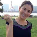 東京マラソン2014のチャリティ・サポートシステムに長谷川理恵さんらが参加