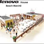 由比ヶ浜で新しいスタイルの海の家「Lenovo House Beach Marche」