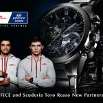 CASIO EDIFICEがトロ・ロッソとのオフィシャルパートナー契約を締結
