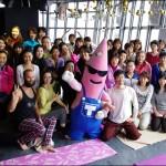 東京タワー大展望台にて朝ヨガを体験