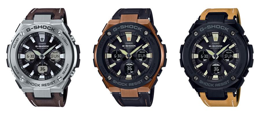 (左から)GST-W130、GST-W120L-1AJF、GST-W120L-1BJF
